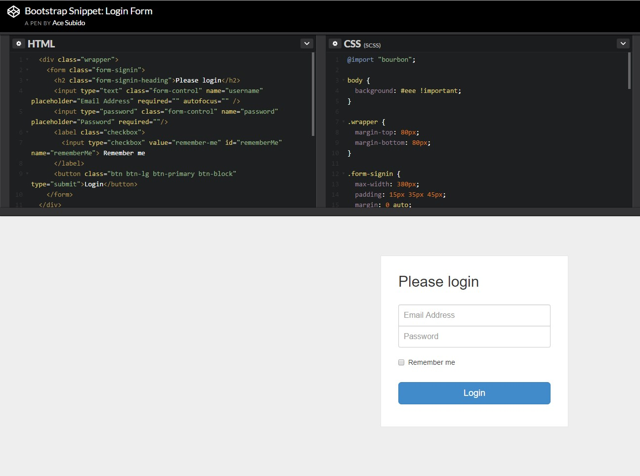 Bootstrap login forms popup another example of bootstrap login form falaconquin