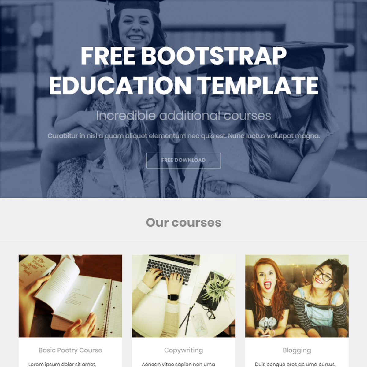 HTML5 Bootstrap Education Templates