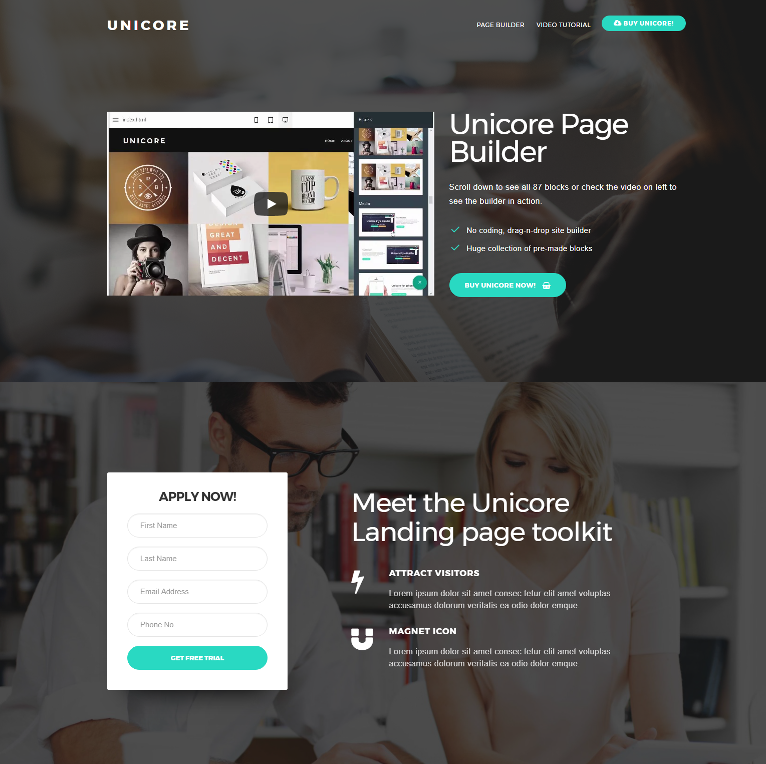 Responsive Bootstrap Unicore Themes