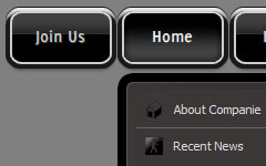 Pull Down Menu Dark Glossy Toolbar