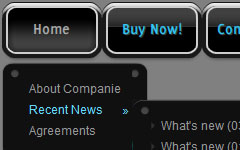 Button In Html Dark Glossy Toolbar
