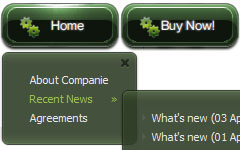 Dark Glossy Nav Bar Green