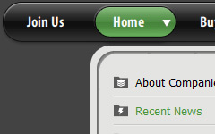 Horizontal Menu Bar Green