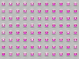 3D Glossy Pink Icons