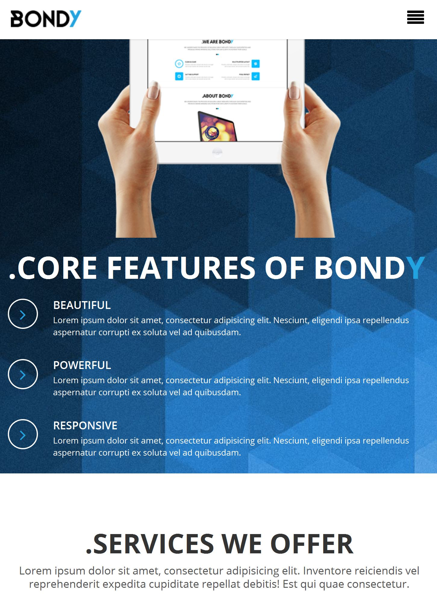 Bootstrap Basic Template