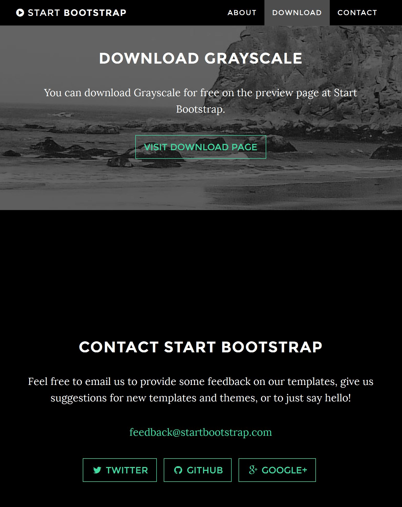 Bootstrap Footer Template