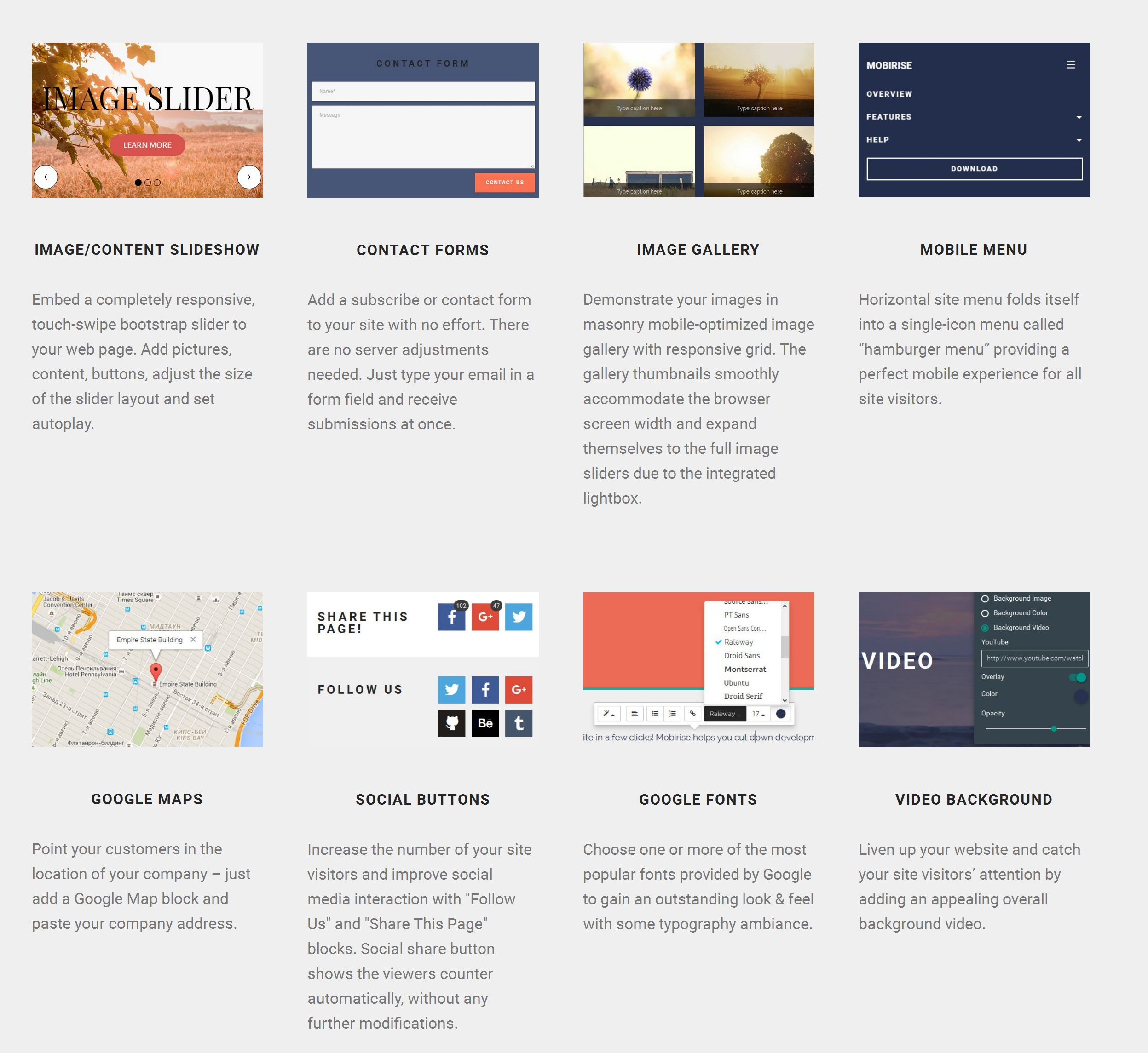 Drag and Drop Simple Website Builder Software