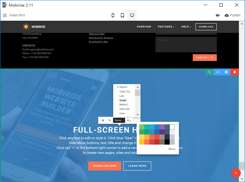 Offline Simple Website Builder Tool
