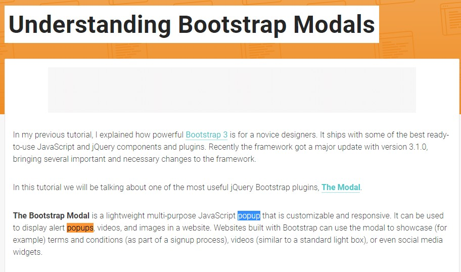 One more  beneficial article  relating to Bootstrap Modal Popup