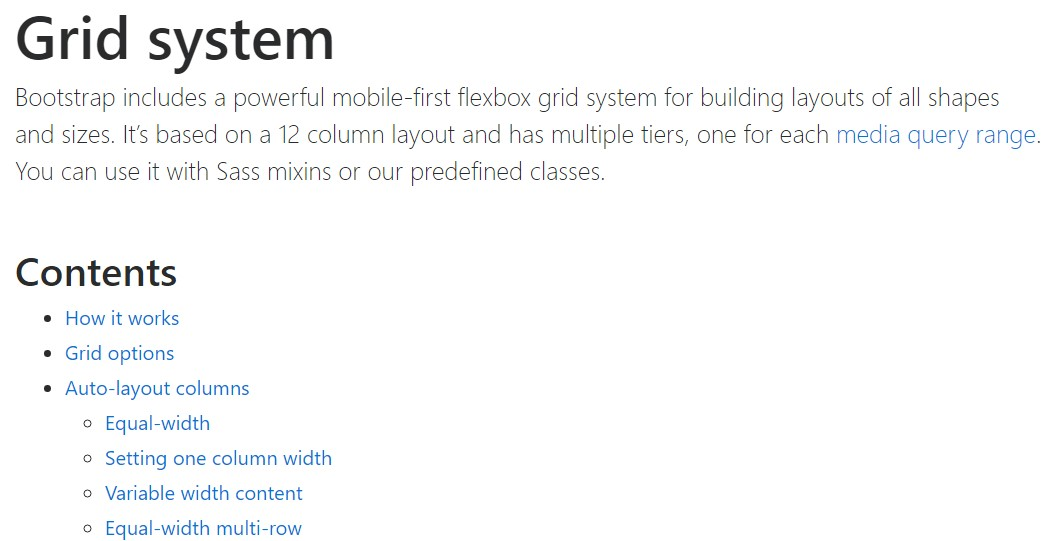 Bootstrap grid  formal  documents