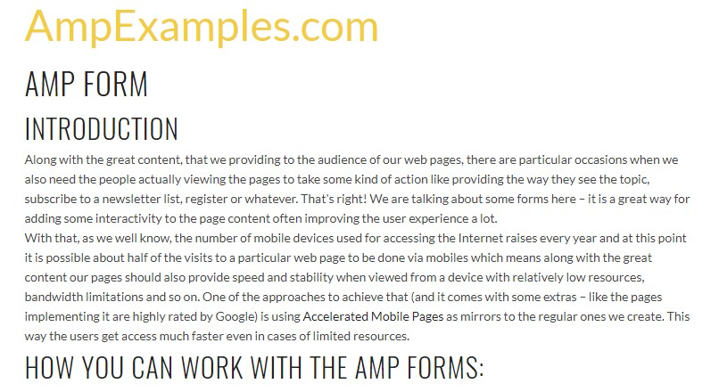 Let's  review AMP project and AMP-form  component?