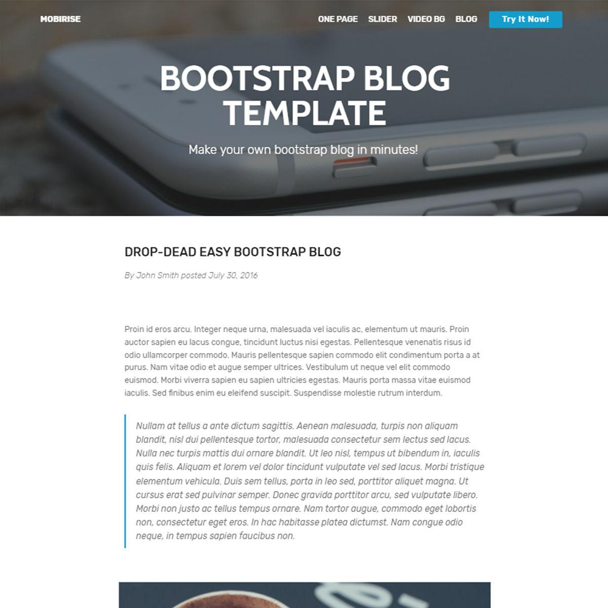 HTML Bootstrap Blog Templates