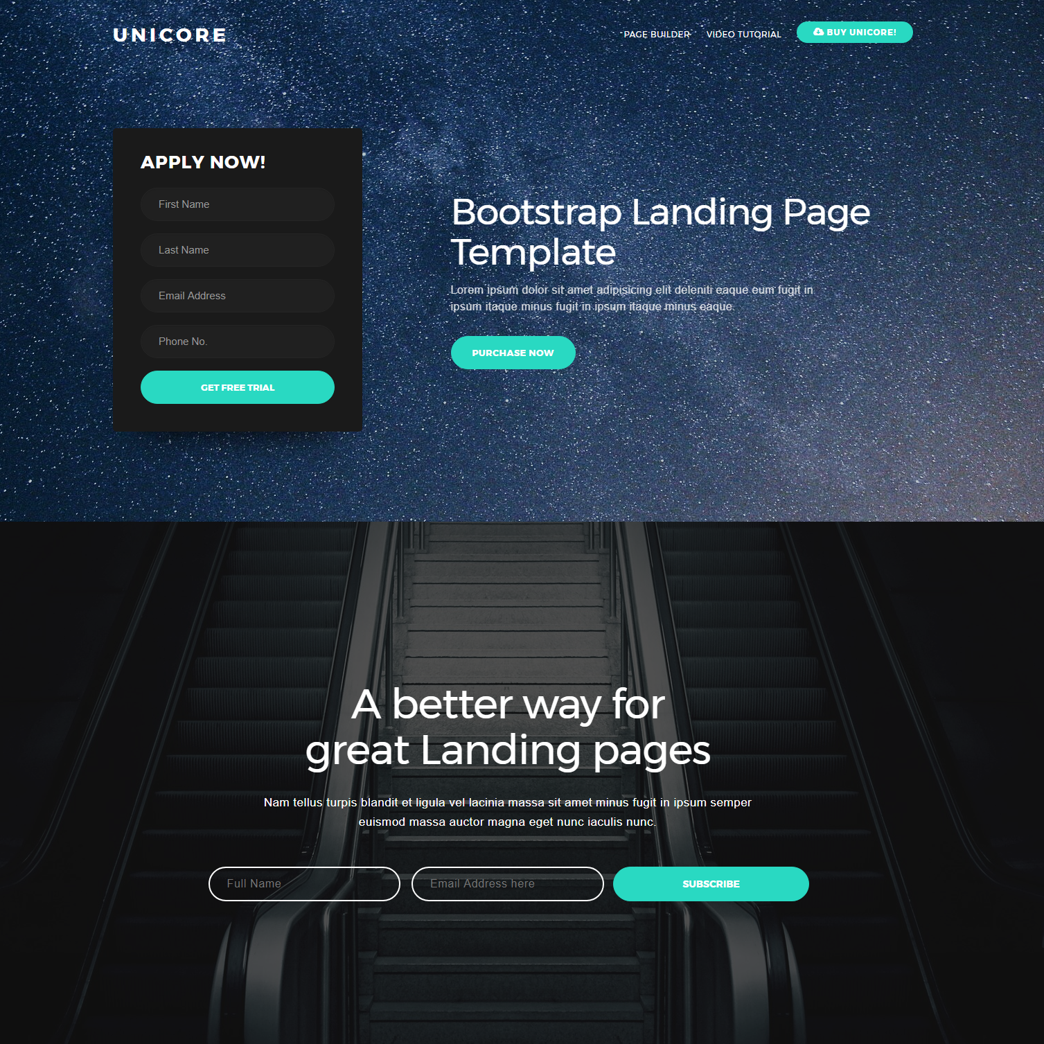 HTML5 Bootstrap One Page Templates