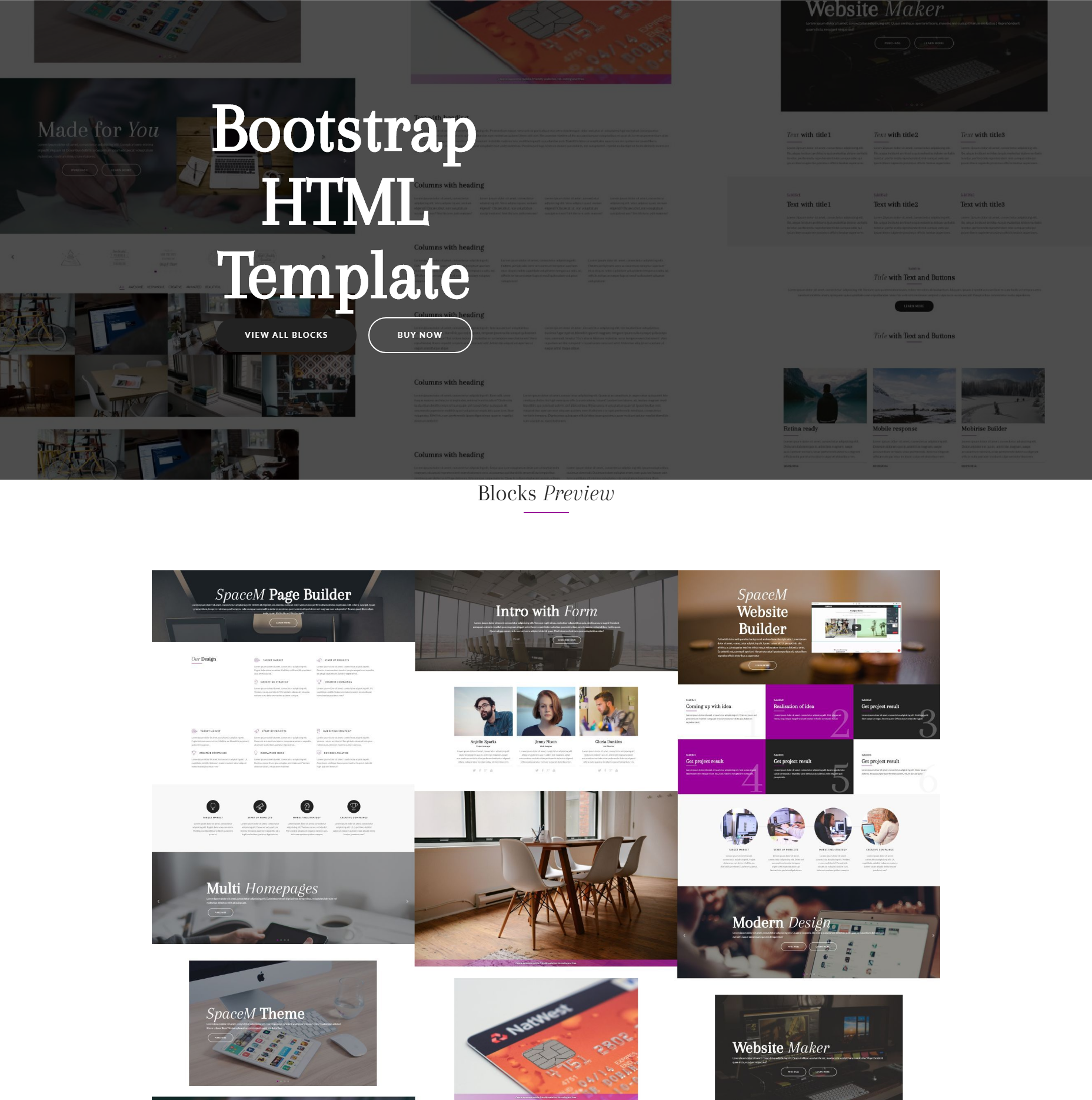 Free Bootstrap HTML Themes