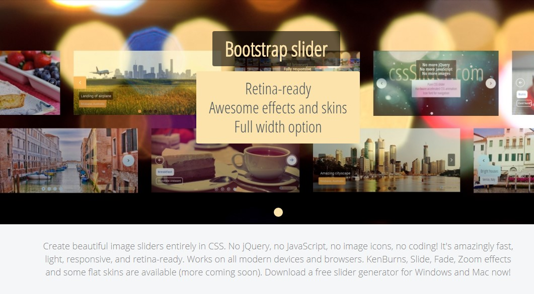 Bootstrap Slider Responsive