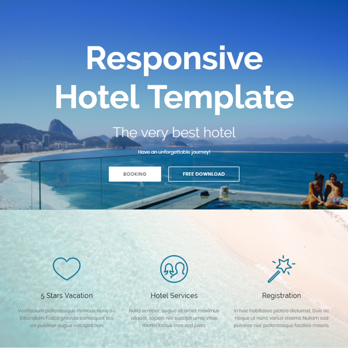 HTML Bootstrap Hotel Themes