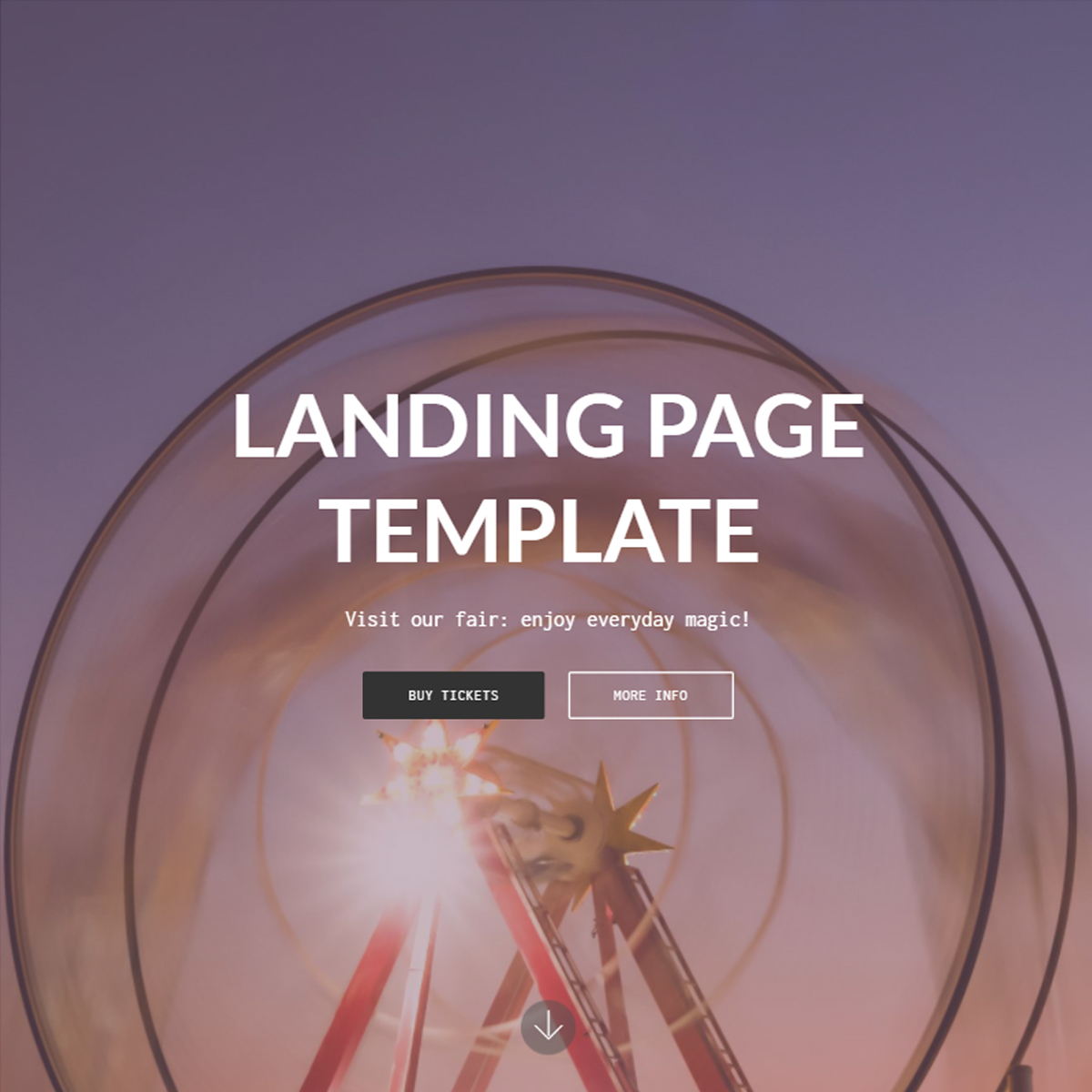 HTML Bootstrap Landing Page Templates