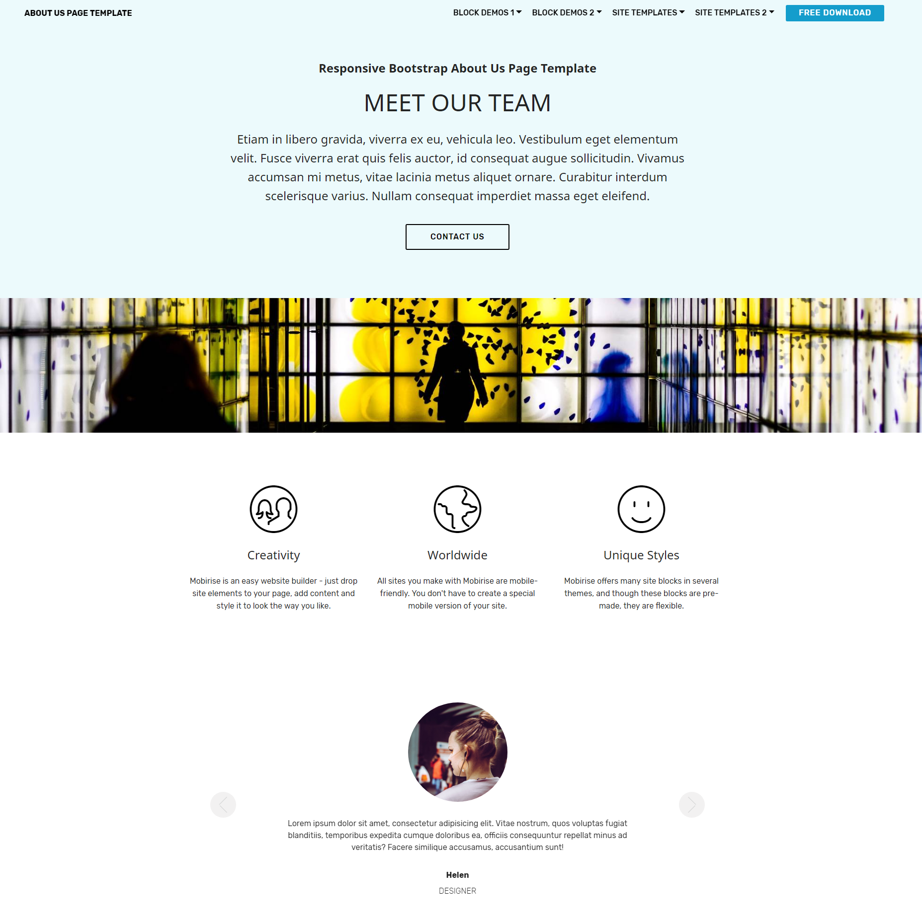 CSS3 Bootstrap About Us Themes