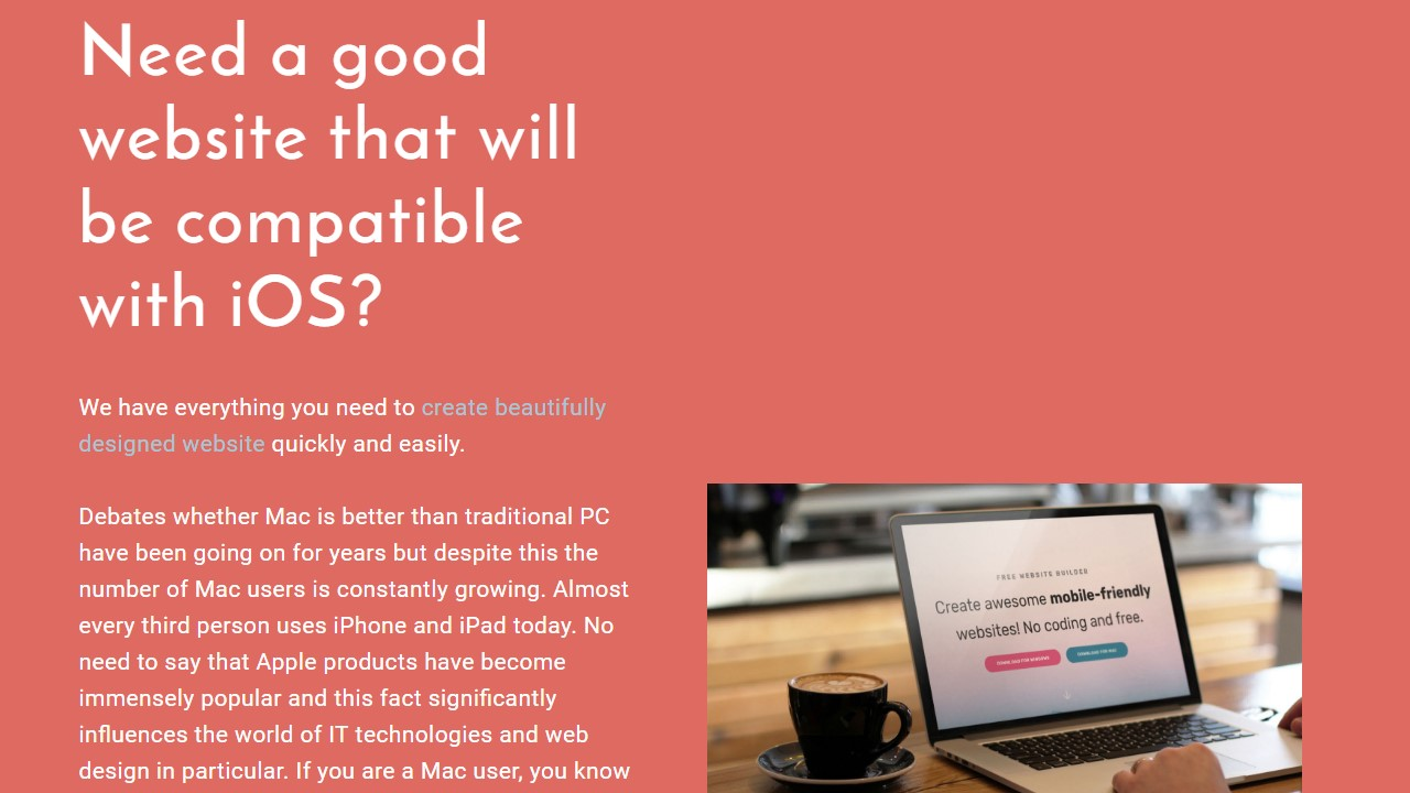 Create beautifully designed website with this Template