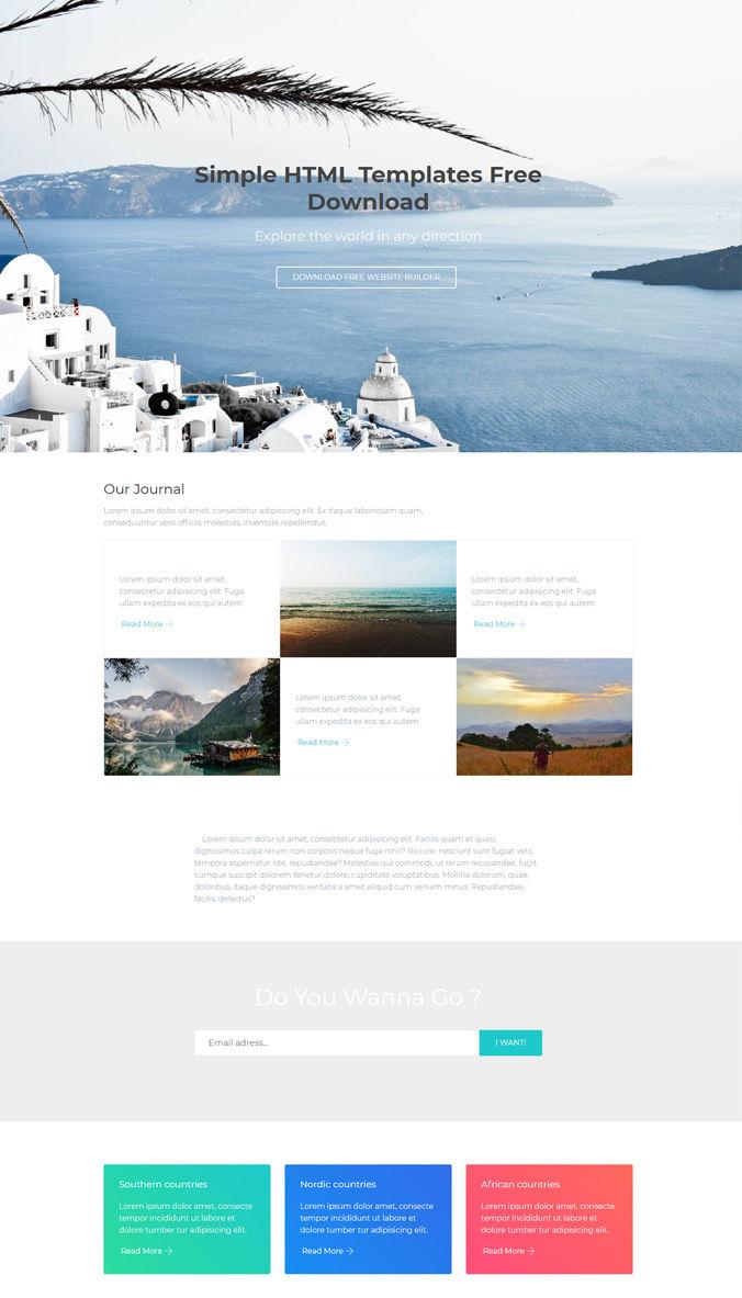 Travel Website Template