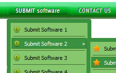 Horizontal Popup Menu Rounded Toolbar Green